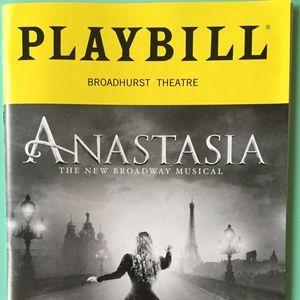 Playbill  Anastasia  Christy Altomare  Derek Klena